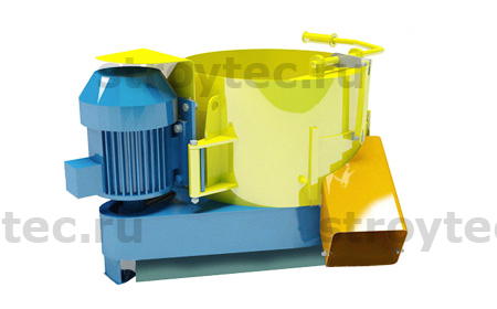 Mixer for production of concrete mixes